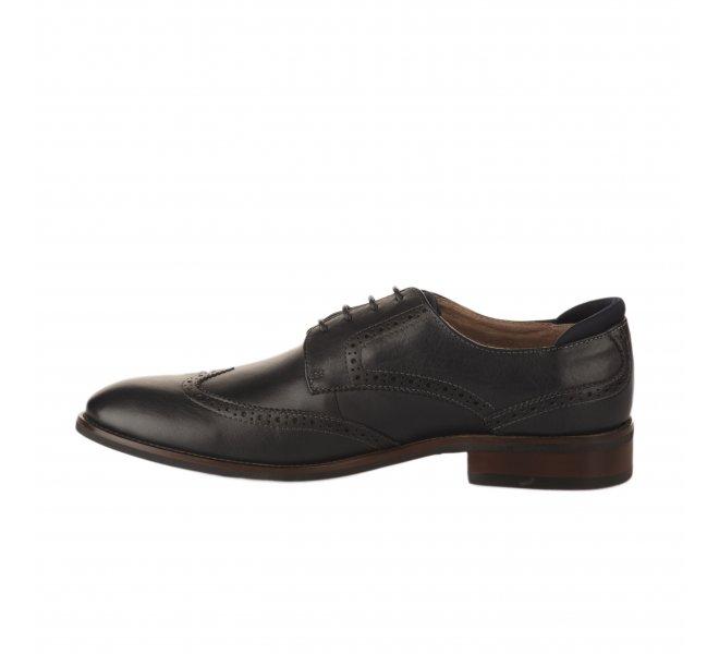 Chaussures à lacets garçon - FIRST COLLECTIVE - Bleu marine