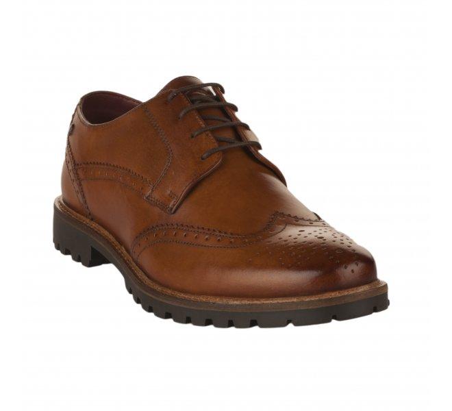Chaussures à lacets garçon - BASE LONDON - Naturel