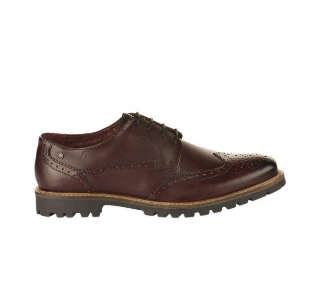 Chaussures à lacets garçon - BASE LONDON - Rouge bordeaux