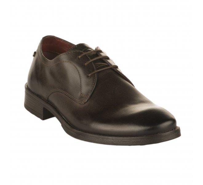 Chaussures à lacets garçon - BASE LONDON - Marron