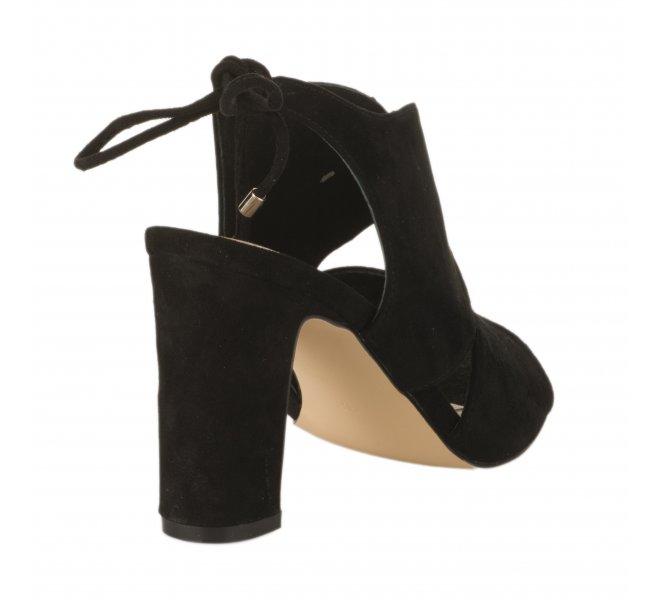 Nu pieds fille - CARMELA - Noir