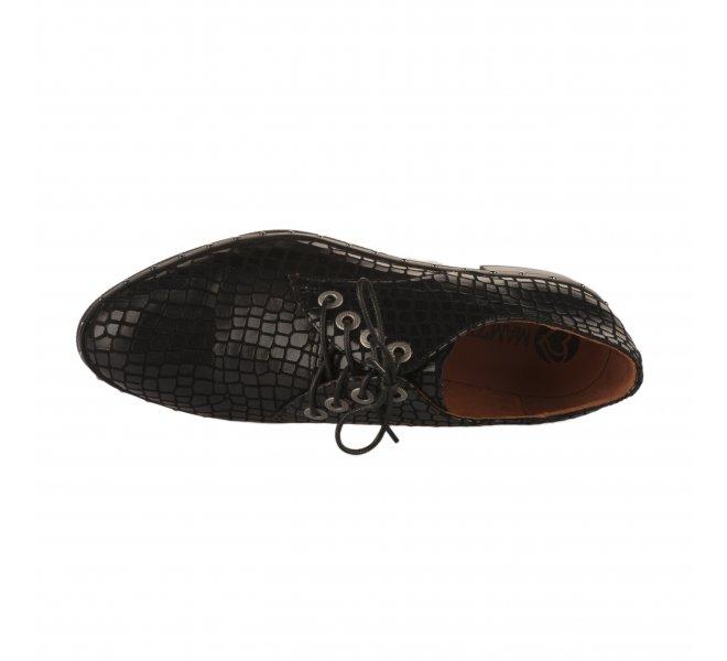 Chaussures à lacets fille - MAM'ZELLE - Noir
