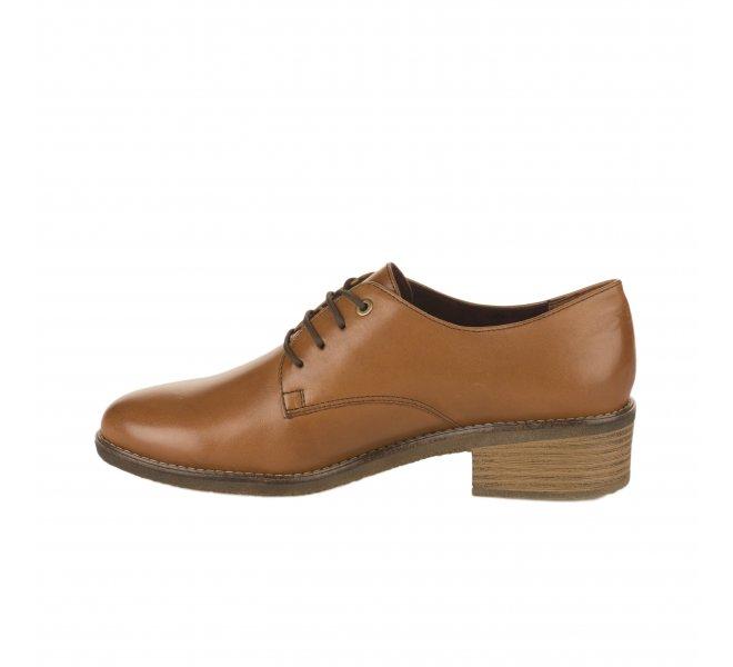 Chaussures à lacets fille - TAMARIS - Marron cognac