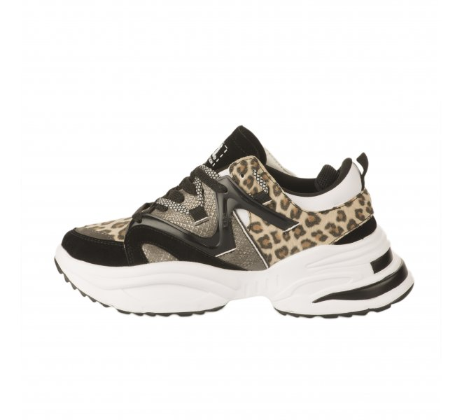 Baskets mode fille - XTI - Leopard