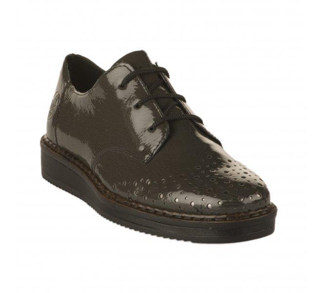 Chaussures à lacets fille - RIEKER - Gris verni