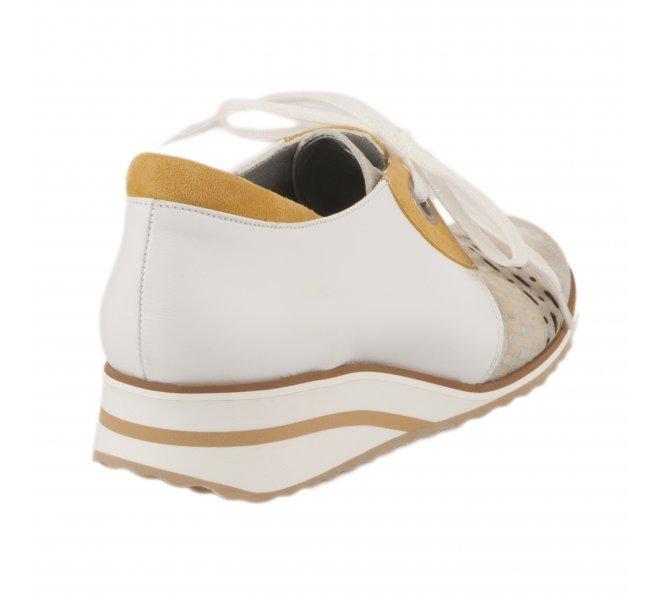 Chaussures à lacets fille - UN TOUR EN VILLE - Blanc