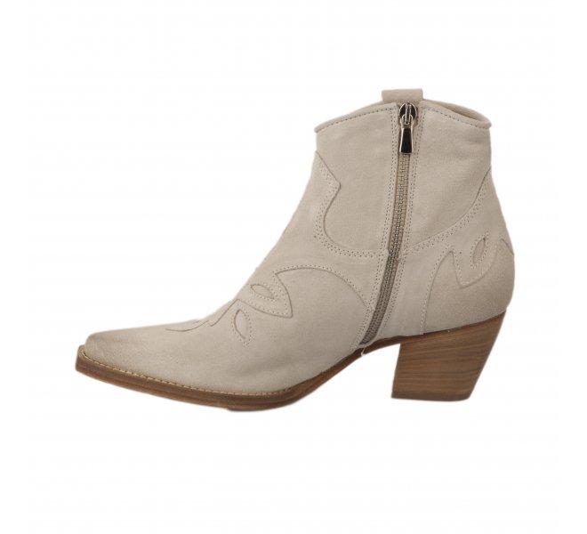 Boots fille - MIGLIO - Blanc casse