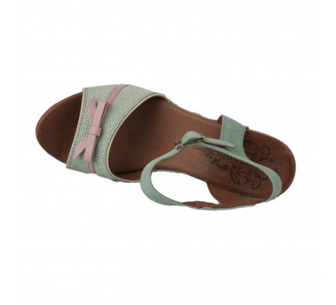 Nu pieds fille - NEMONIC - Bleu turquoise
