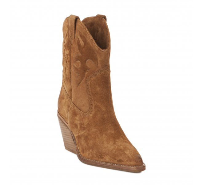 Boots fille - BRONX - Marron cognac