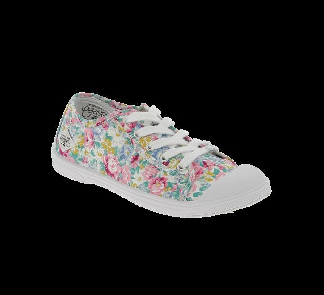 Chaussures Le temps des cerises rose fille - BASIC 02 Toile Rose