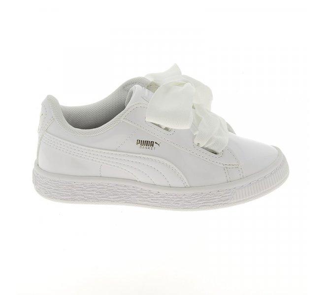 Chaussures Puma blanc fille - BASKET Vernis BLANC - CM0259
