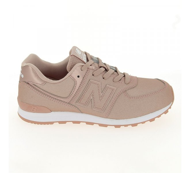 Chaussures New balance rose fille - CG574 Synthetique Rose - CM0578