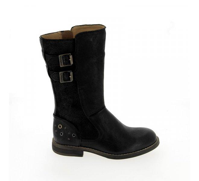 bottes kickers cuir noir