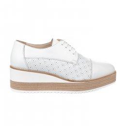 Chaussures à lacets femme - MIGLIO - Blanc