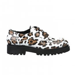 Chaussures à lacets fille - LOUISA - Blanc verni