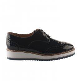 Chaussures à lacets femme - EMILIE KARSTON - Bleu marine verni