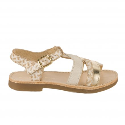 54ccb3bef5881 Nu-pieds fille - CHAUSSMOME - Beige dore ...
